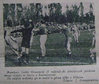 Budowlani Opole - Lechia Gdańsk 0:1 (Sezon 1956).