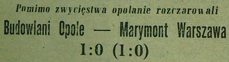 Ze spotkania Budowlani - Marymont (Sezon 1955, 1:0).