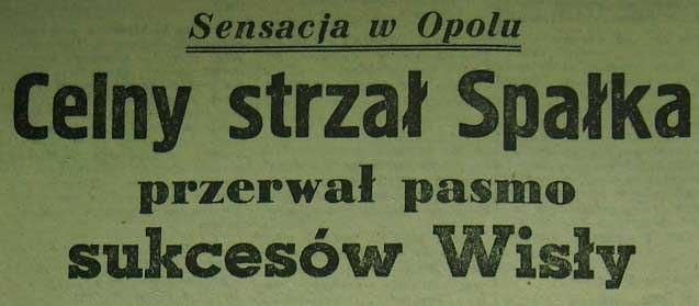 Budowlani - Wisła 1:0 (1956).