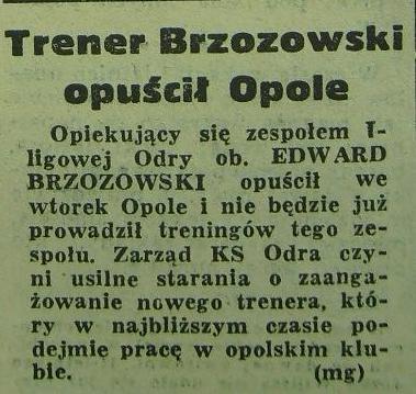 Edward Brzozowski żegna się z Opolem (1962).