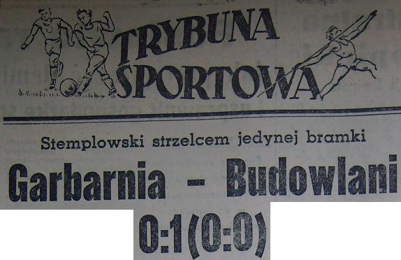 Garbarnia - Budowlani 0:1 (Sezon 1956).