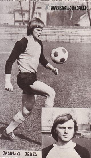 Jerzy Jasiński zdobywca złotego medalu Mistrzostw Polski w piłce nożnej z 1972 roku