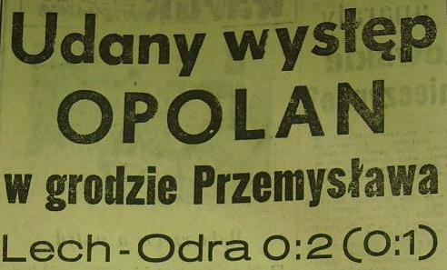 Ze spotkania Lech - Odra (Sezon 1961, 0:2).