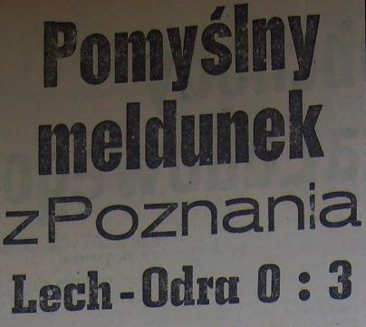 Ze spotkania Lech Poznań - Odra Opole (0:3, Sezon 1962).