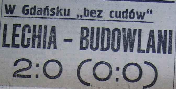 """Porażka """"Budowlanych"""" w Gdańsku (1958)"""