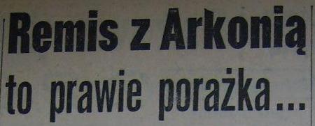"""Spotkanie """"Odry"""" Opole z """"Arkonią"""" Szczecin (1:1, 1959)"""