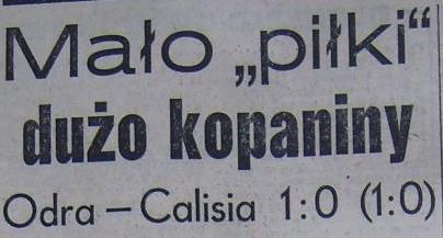 """Spotkanie """"Odra"""" Opole - """"Calisia"""" Kalisz (1:0, 1959)"""