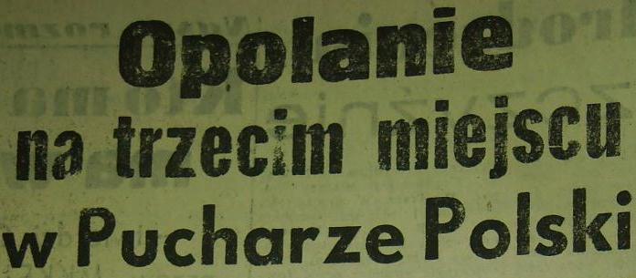 Odra Opole - Cracovia (Puchar Polski: mecz o III miejsce - 1962).