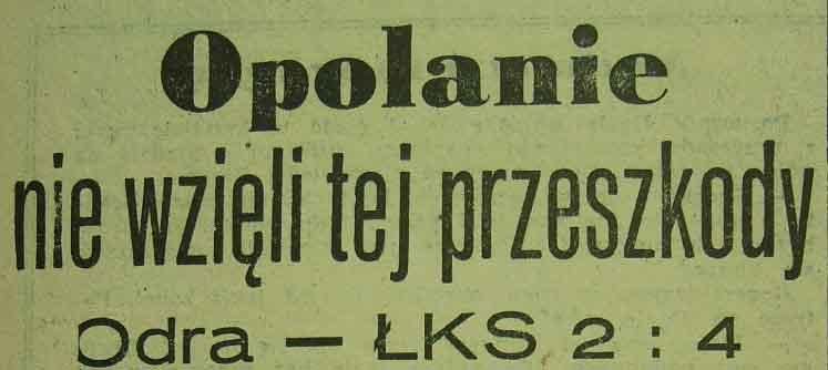 Ze spotkania Odra - ŁKS (2:4 - półfinał PP juniorów: 1962).