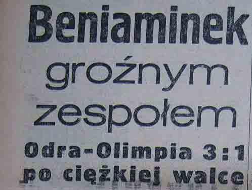 """Spotkanie """"Odry"""" Opole z poznańską """"Wartą"""" (3:1, 1959)"""