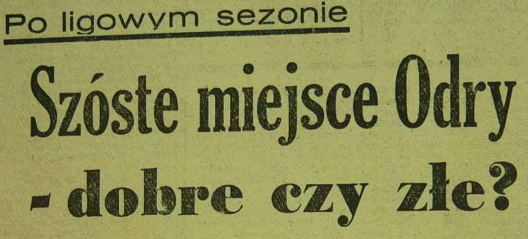 Errata do Sezonu 1961.