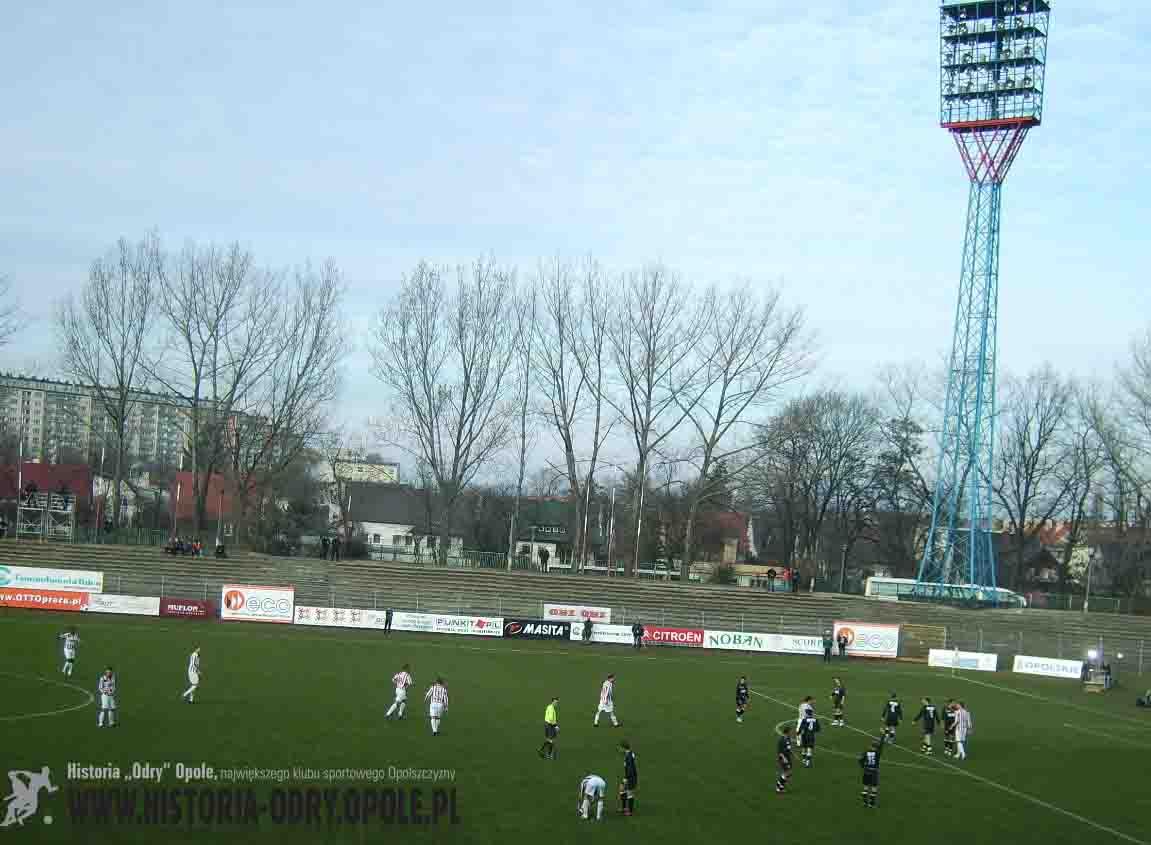 """Spotkanie """"Odra Opole - """"Polonia"""" Warszawa 1:1 (15.03.2008)"""