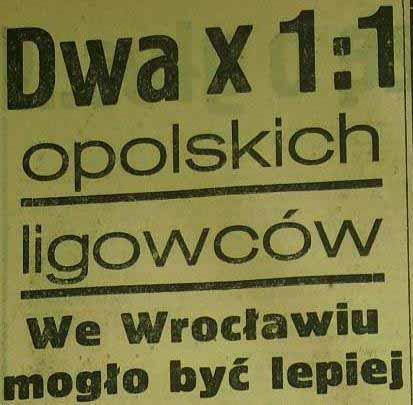 """Remis """"Odry"""" Opole ze """"Śląskiem"""" Wrocław (1:1, 1959)"""