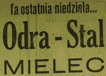 Ze spotkania Odra Opole - Stal Mielec (Sezon 1961, 0:0).