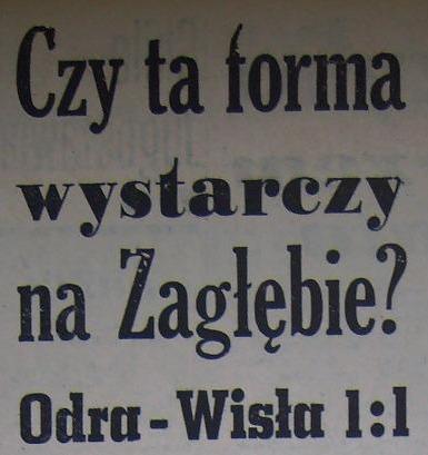 Ze spotkania Odra Opole - Wisła Kraków (1:1, Sezon 1962).