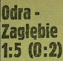 Ze spotkania Odra - Zagłębie (1:5, Sezon 1962/1963).