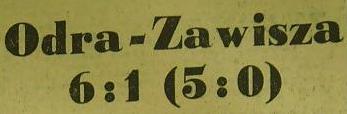 Ze spotkania Odra Opole - Zawisza Bydgoszcz (Sezon 1961, 6:1).