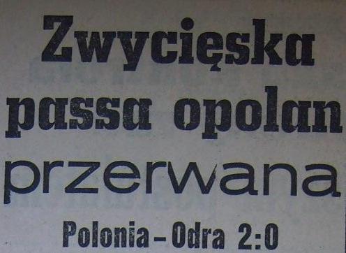Ze spotkania Polonia Bytom - Odra Opole (2:0, Sezon 1962).