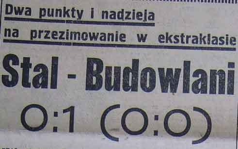 """Spotkanie """"Stal"""" Sosnowiec - """"Budowlani"""" Opole 0:1 (1958)"""