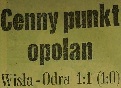 Ze spotkania Wisła - Odra (Sezon 1961, 1:1).