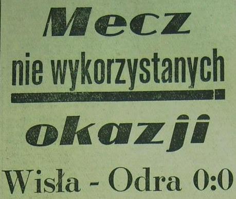 Ze spotkania Wisła Kraków - Odra Opole (0:0, Sezon 1962).