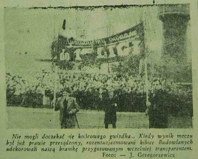 Powrót Budowlanych do ekstraklasy (1955)