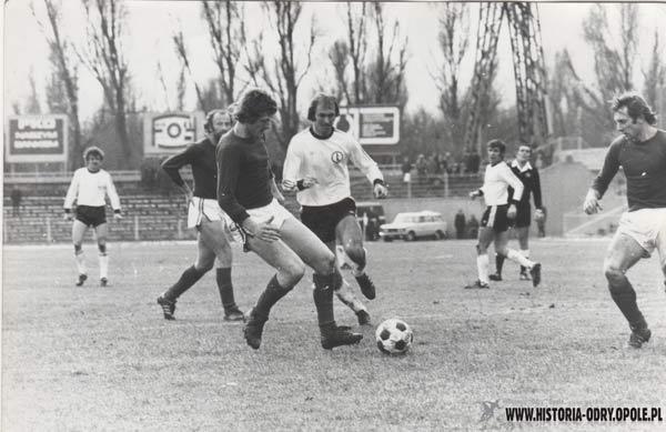 Tadeusz Podgórny w meczu z Legią Warszawa