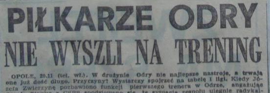 Strajk piłkarzy Odry (21.11.1980 r.)