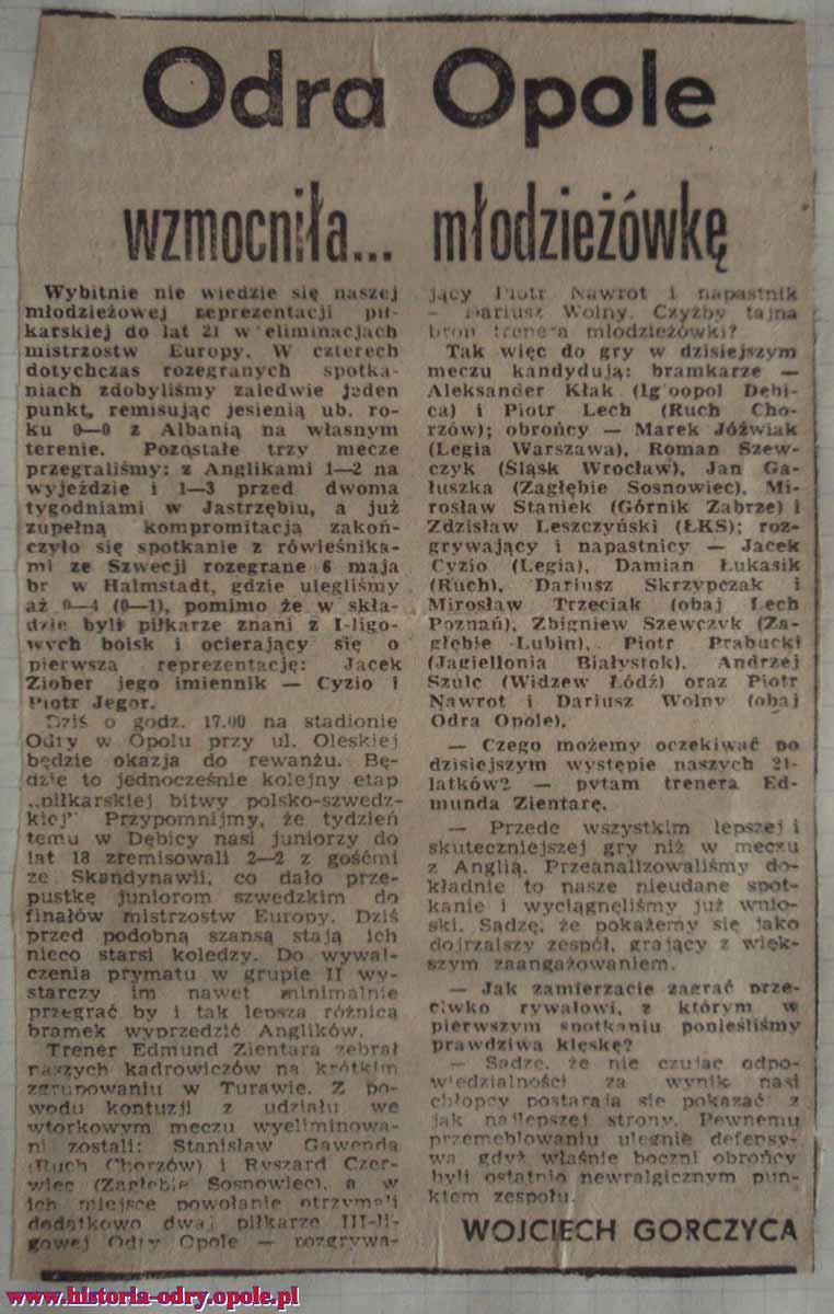 Odra Opole wzmocniła... młodzieżówkę (TO)