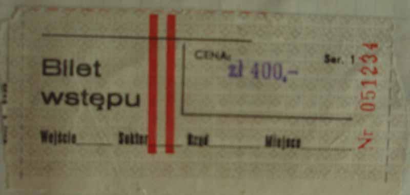 Bilet z meczu Polska-Szwecja w Opolu (1989 r.)