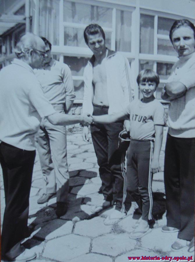 W Turawie z synem Arturem oraz redaktorem Gągolą