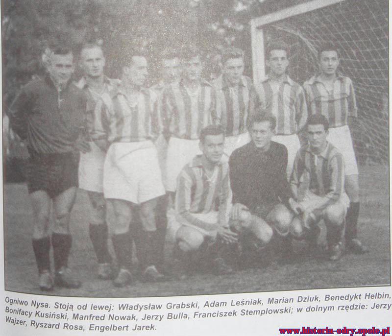Zespół Ogniwa Nysa z 1954 r. w składzie m.in z Engelbertem Jarkiem