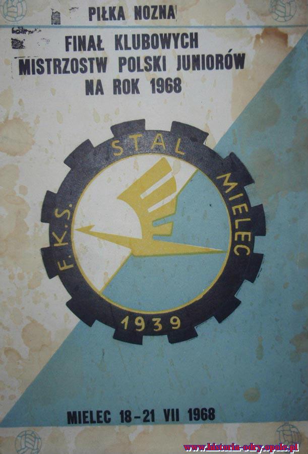 Oficjalny program z turnieju finałowego w Mielcu (1968 r.)