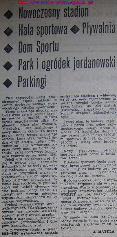 Artykuł o sportowej wizji Opola