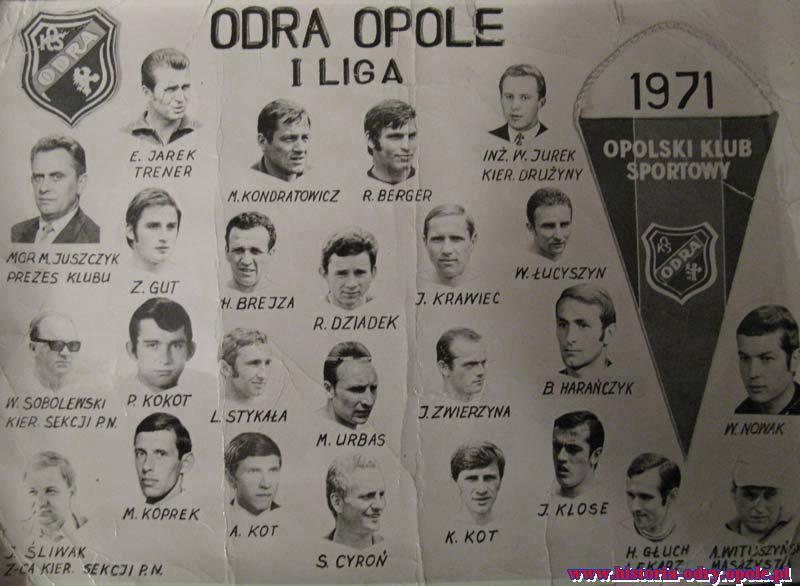 Antoni Kot debiutuje w reprezentacji Polski w 1971 r. w meczu z Niemcami