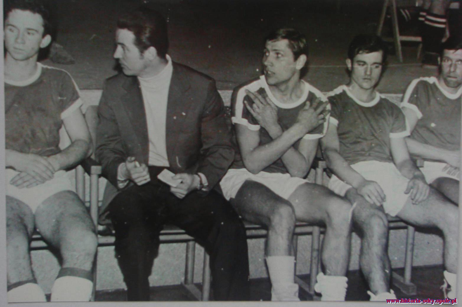 W barwach Odry, Józef Klose drugi od prawej (trener E.Jarek)