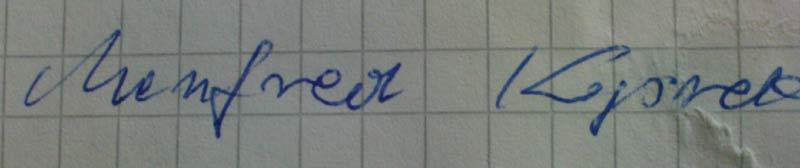 Autograf Manfreda Koprka