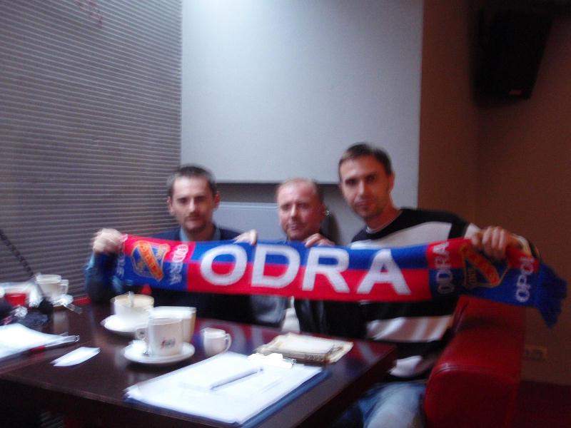 Bogdan Łukasiak z autorami wywiadu