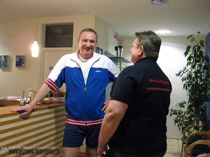 Roman Wójcicki podczas wywiadu dla serwisu Historia Odry Opole